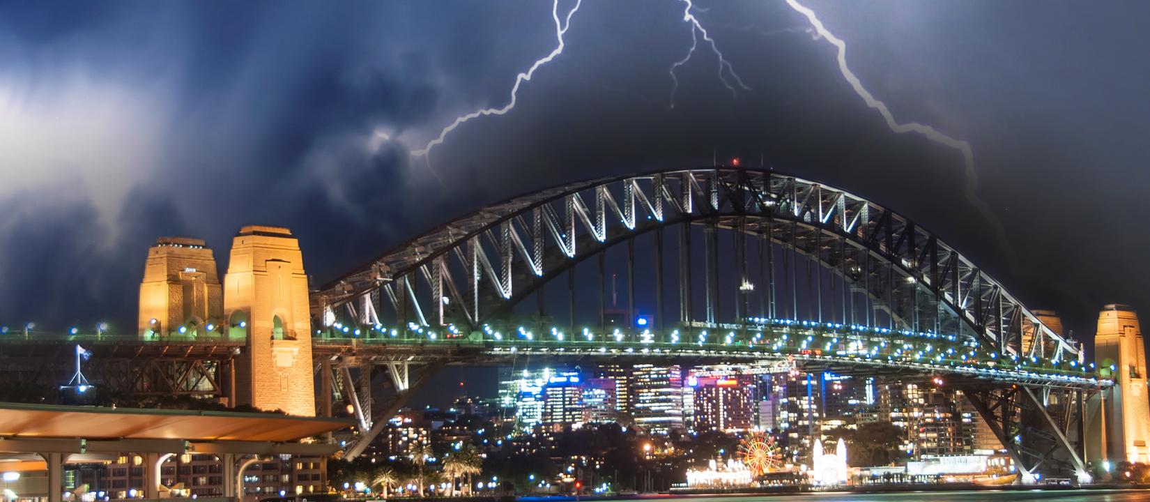 Storm photo over Sydney Harbour Bridge