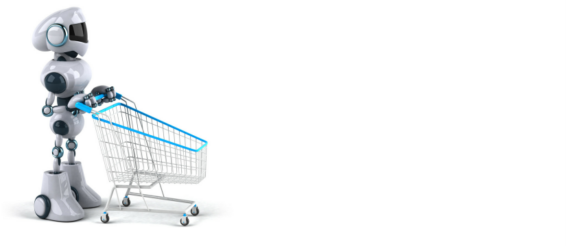 Bot with shopping trolley