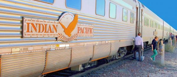 Photos of the Indian Pacific Train in Australia